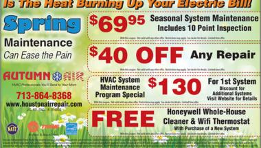 Autumn Air spring coupon 2018